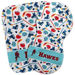 Hockey 2 Burp Cloth (Personalized)