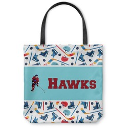 Hockey 2 Canvas Tote Bag (Personalized)