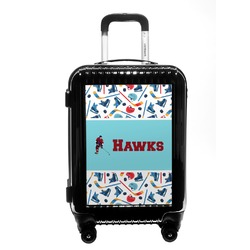 Hockey 2 Carry On Hard Shell Suitcase (Personalized)