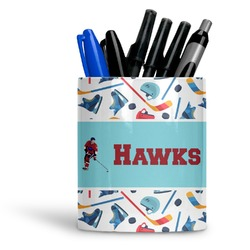 Hockey 2 Ceramic Pen Holder
