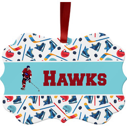 Hockey 2 Ornament (Personalized)