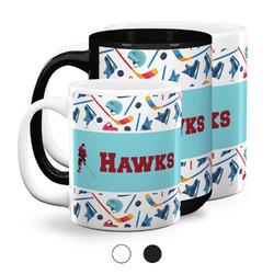 Hockey 2 Coffee Mugs (Personalized)