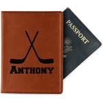 Hockey 2 Leatherette Passport Holder (Personalized)