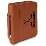 Hockey 2 Leatherette Book / Bible Cover with Handle & Zipper (Personalized)