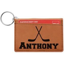 Hockey 2 Leatherette Keychain ID Holder (Personalized)