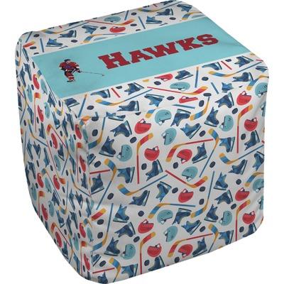 Hockey 2 Cube Pouf Ottoman (Personalized)