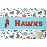 Hockey 2 Dish Drying Mat (Personalized)