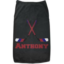 Hockey 2 Black Pet Shirt - S (Personalized)