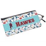 Hockey 2 Genuine Leather Eyeglass Case (Personalized)