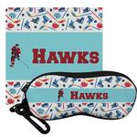 Hockey 2 Eyeglass Case & Cloth (Personalized)