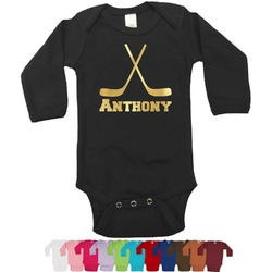 Hockey 2 Foil Bodysuit - Long Sleeves - Gold, Silver or Rose Gold (Personalized)