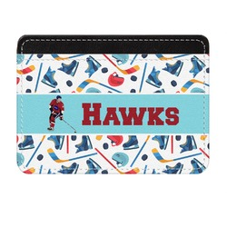 Hockey 2 Genuine Leather Front Pocket Wallet (Personalized)