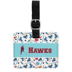 Hockey 2 Genuine Leather Rectangular  Luggage Tag (Personalized)