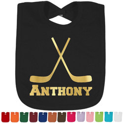 Hockey 2 Foil Toddler Bibs (Select Foil Color) (Personalized)