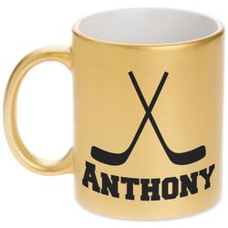 Hockey 2 Gold Mug (Personalized)