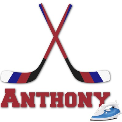 Hockey 2 Graphic Iron On Transfer (Personalized)
