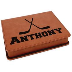 Hockey 2 Leatherette 4-Piece Wine Tool Set (Personalized)