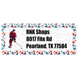 Hockey 2 Return Address Labels (Personalized)