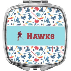 Hockey 2 Compact Makeup Mirror (Personalized)