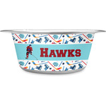 Hockey 2 Stainless Steel Dog Bowl (Personalized)