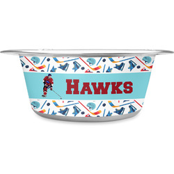 Hockey 2 Stainless Steel Pet Bowl (Personalized)