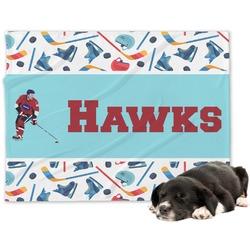 Hockey 2 Minky Dog Blanket - Large  (Personalized)