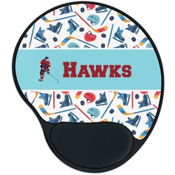 Hockey 2 Mouse Pad with Wrist Support