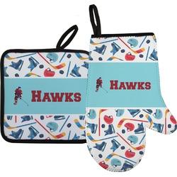 Hockey 2 Oven Mitt & Pot Holder (Personalized)