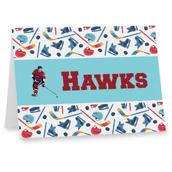 Hockey 2 Notecards (Personalized)