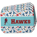 Hockey 2 Dining Table Mat - Octagon w/ Name or Text