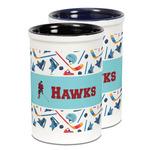 Hockey 2 Ceramic Pencil Holder - Large