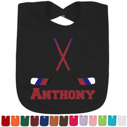Hockey 2 Baby Bib - 14 Bib Colors (Personalized)
