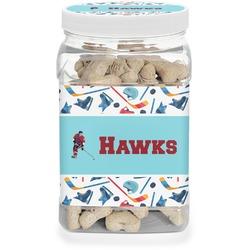 Hockey 2 Pet Treat Jar (Personalized)