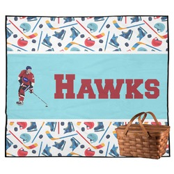 Hockey 2 Outdoor Picnic Blanket (Personalized)