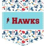 Hockey 2 Iron On Faux Pocket (Personalized)