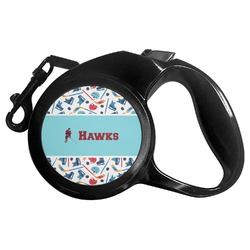 Hockey 2 Retractable Dog Leash (Personalized)