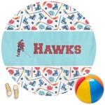 Hockey 2 Round Beach Towel (Personalized)
