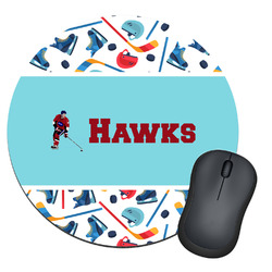 Hockey 2 Round Mouse Pad (Personalized)