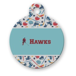 Hockey 2 Round Pet Tag (Personalized)