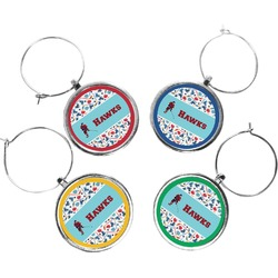 Hockey 2 Wine Charms (Set of 4) (Personalized)