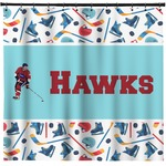 Hockey 2 Shower Curtain (Personalized)