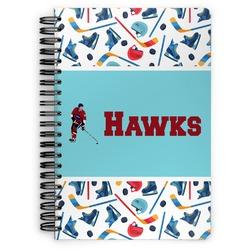 Hockey 2 Spiral Bound Notebook (Personalized)