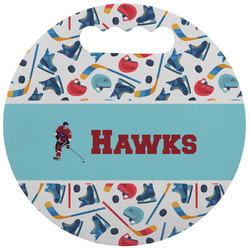 Hockey 2 Stadium Cushion (Round) (Personalized)