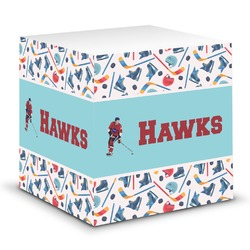 Hockey 2 Sticky Note Cube (Personalized)