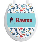 Hockey 2 Toilet Seat Decal (Personalized)