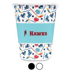 Hockey 2 Waste Basket (Personalized)