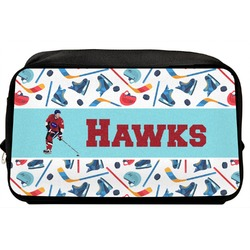 Hockey 2 Toiletry Bag / Dopp Kit (Personalized)