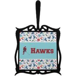 Hockey 2 Trivet with Handle (Personalized)
