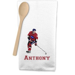 Hockey 2 Waffle Weave Kitchen Towel (Personalized)