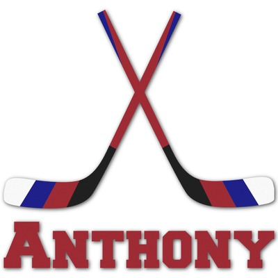 Hockey 2 Graphic Decal - Custom Sizes (Personalized)